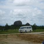 Landschaft des Südens/der erwähnte Bus
