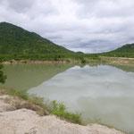 Staubecken im Süden Kampong Chhnangs