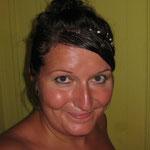 Hihi, am Montag Abend mit Konfetti im Haar