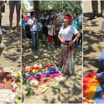 Eine Schamanin aus Matagalpa hat ein Reinigungsritual mit uns durchgeführt