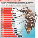 Die Dengue-Fälle sind in den letzten Jahren rapide angestiegen. Es gibt momentan 7.975 gemeldete Fälle und mittlerweile 19 Todefälle.