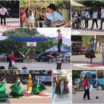Verschiedene Tanz-, Theater und Artistikvorführungen aus ganz Nicaragua