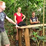 """Iwan, Janine & Sebastian als """"Jury"""", ich hab Haltungsnoten bekommen, als ich mich hinter denen den Berg hochgeschleppt hab..."""