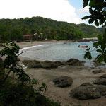 Montezuma Beach von der Seite von der ich jetzt immer herlauf.