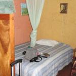 ... mein Bett mit meinem Moskitonetz (juheeee)