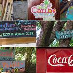 Lustige Schilder auf der Insel