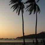 1. Abend in San Juan del Sur, gleich so ein schoener Sonnenuntergang!!!