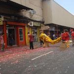 Die Chinesen feierten Neujahr.