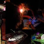 Zubereitung und Essen des Sabalos