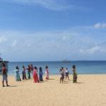 Am Strand hat ein nicaraguanischer Popstar ein Video aufgenommen - leider haben wir seinen Namen nicht gekannt und auch gleich wieder vergessen *hüstelhüstel*