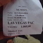 Einmal nach Las Vegas fahren! Ich hab' es mir jetzt erfüllt! Wenn auch in Costa Rica... aber naja!