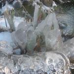 """""""Eisskulpturen"""" am Teich"""