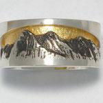 Bergschmuck  / Bergring  Eiger, Mönch , Jungfrau