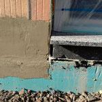 Steinfensterbank mit Dämmung