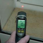 Im Bad am Rahmen (da war's im Haus 28 Grad und außen -3)