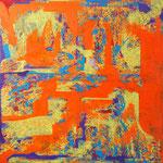 """波音""""sound of wave""""  2016   91x91cm oil on canvas"""