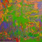 """夏の気配 """"sign of summer"""" 2015 53x53cm oil on canvas"""