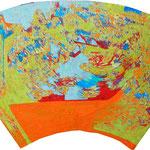 """五月の雨 """"rain in may""""  2016 40x80cm oil on canvas"""