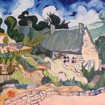 """copia di """"Chaumes de Cordeville à Auvers-sur-Oise"""", 1890 Vincent Van Gogh"""