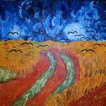 """Copia di """"Campo di grano con volo di corvi"""", 1890 Vincent Van Gogh"""