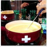 swiss food fondue with Scott