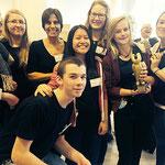 Carola Kupfer mit dem Literaturkurs, der den Würth-Bildungspreis 2014 gewonnen hat!