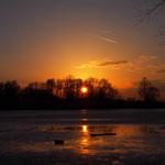 Zum Sonnenuntergang am Baggersee