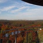 Oktobermotto: Die Fränkische Schweiz im Herbst -  Ausblick von der Himmelsleiter