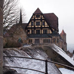 Coburg-Tour bei leichtem Schneefall