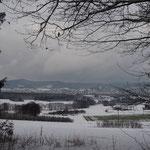 MTB-Winterwege südlich Hersbruck - Blick nach Hersbruck