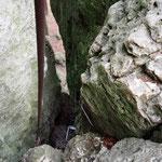 Tour zum Francke Kamin - Blick in den Kamin