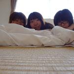 寝起き3人衆