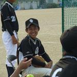 小林さんはいつも満面の笑みをくれます