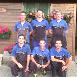 2. Rang: Jenni Simon, Habegger Simon, Habegger Stefan, Burkhalter Marco, Stettler Steven, Schüpbach Andreas