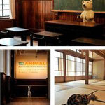 (上)談話室(左下)廊下 (右下)和室「明倫」 ©Atsuhiko Misawa photo:大島拓也