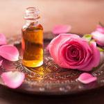 Thème de la Rose huiles et pétales...