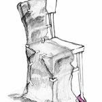 """Illustration zu """"Wo bitte gehts zur Philharmonie?""""von Anja Martin aus """"Mann mit Hut"""""""