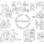 Ausmalbild für die Initiative #Illustratorenfuerfluechtlinge