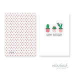 Klappkarte 'Kaktus' |  Best-Nr. MZG_16 | Außenseiten bedruckt | Falz lange Seite | 10x14 cm