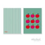 Klappkarte 'Apfel' | Best-Nr. MFJA_09 | Außenseiten bedruckt | Falz lange Seite | 10x14 cm