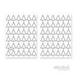 Klappkarte 'Tannenbaum Pattern' | Best-Nr. MZW_11 | Außenseiten bedruckt | Falz lange Seite | 10x14 cm