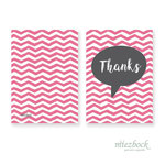 Klappkarte 'Thanks' | Best-Nr. MFJA_02 | Außenseiten bedruckt | Falz lange Seite | 10x14 cm