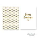 Klappkarte 'Forever & Always' | Best-Nr. 02 | Außenseiten bedruckt | Falz lange Seite | 10x14 cm