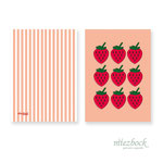 Klappkarte 'Erdbeeren' | Best-Nr. MFJA_08 | Außenseiten bedruckt | Falz lange Seite | 10x14 cm