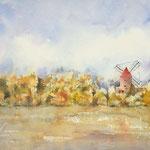 "Breton Windmill ""Alfonse Daudet -  15 in. x 22 in. - 38 x 56 cm - 780,00 Euro"