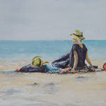 Couple at Seaside 30 in. x 22 in. - 76 x 56 cm - 780,00 Euro