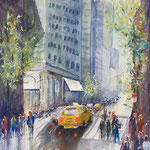 An April Day, 11 West 53 Street, NYC,  42 cm x 56 cm - 16,5 in. x 22 in. - 580,00 Euro