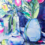 Still Life with Tulips and Citron 14,2 in. x 18,9 in. - 36 x 48 cm - 480,00 Euro