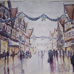 Time for Christmas Shopping - Zöllnerstreet, Celle -  18 in. x 13 in. - 45 x 34 cm - 880,00 Euro