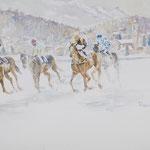 White Turf, St. Moritz 30 in. x 22 in. - 76 x 56 cm - 980,00 Euro